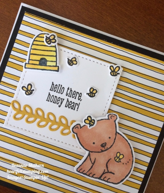 Stampin Up A Little Wild square cards- Rosanne Mulhern
