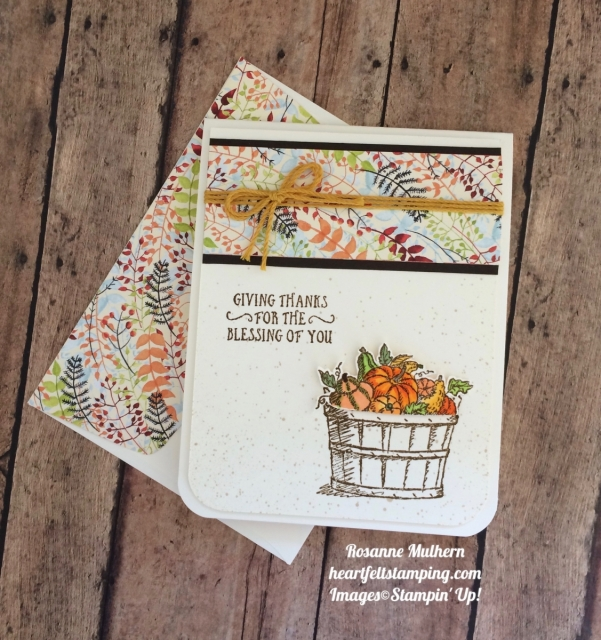 Stampin Up Basket of Wishes Painted Autumn Thank you cards - Rosanne Mulhern