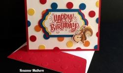 Stampin Up Birthday Delivery Birthday Card - Rosanne Mulhern