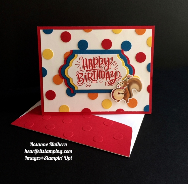 Stampin Up Birthday Delivery Birthday Card - Rosanne Mulhern