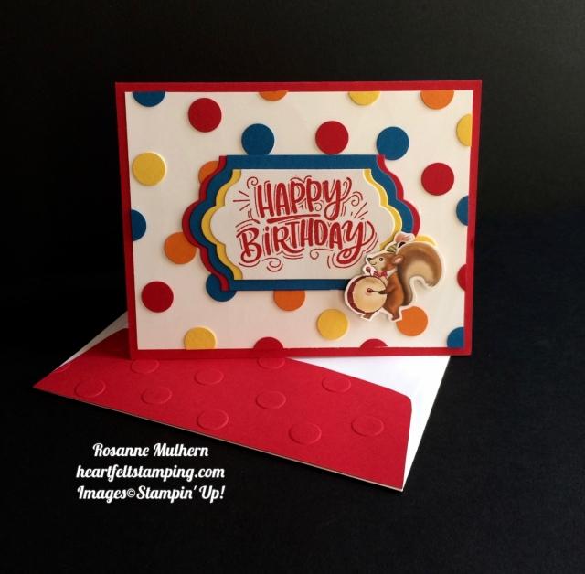 Polka Dot Birthday Delivery Heartfelt Stamping