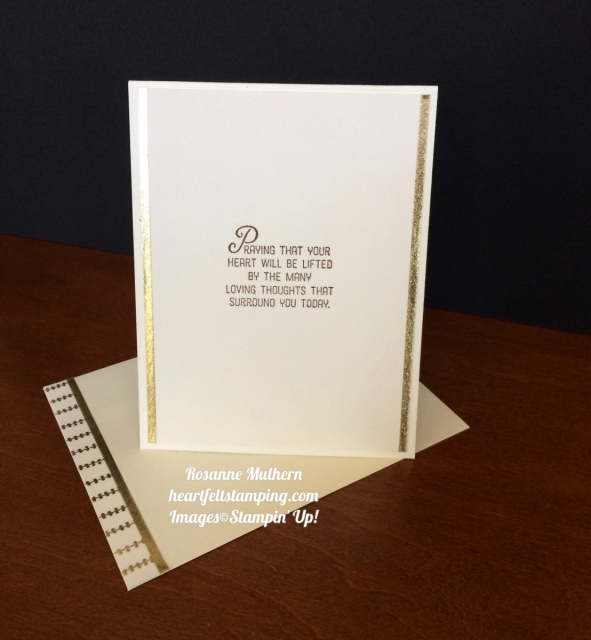 Stampin Up Clean & Classic Sympathy Cards - Rosanne Mulhern