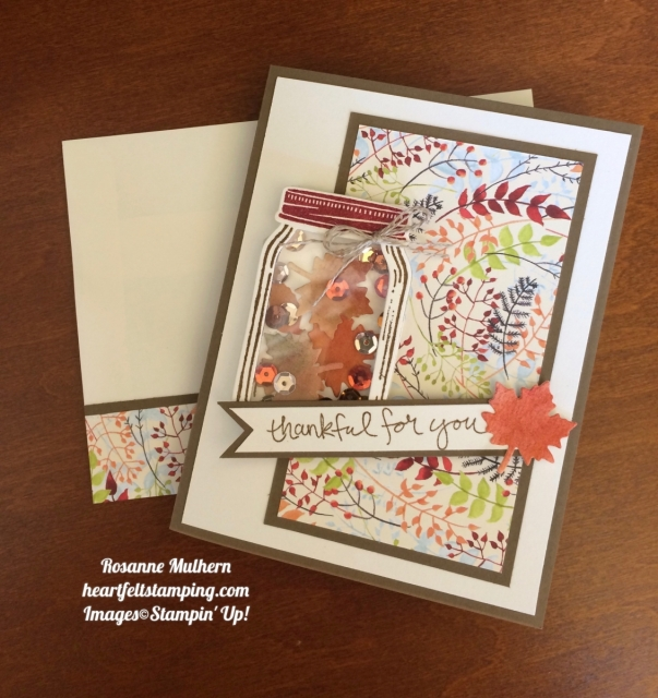 Stampin Up Jar of Love Thank you Thanksgiving Cards - Rosanne Mulhern