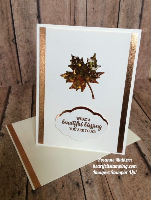 Stampin Up Painted Harvest Thanksgiving:Thank you card - Rosanne Mulhern