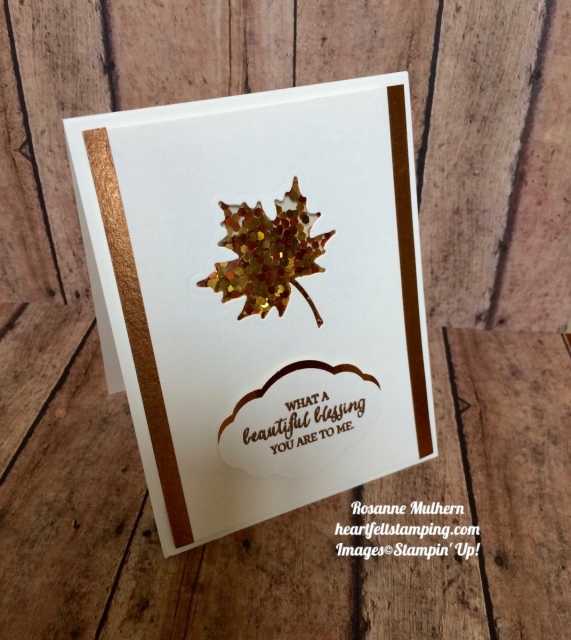 Stampin Up Painted Harvest Thanksgiving:Thank you card idea - Rosanne Mulhern