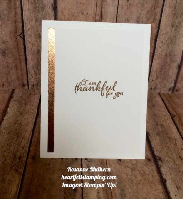Stampin Up Painted Harvest Thanksgiving:Thank you card ideas- Rosanne Mulhern