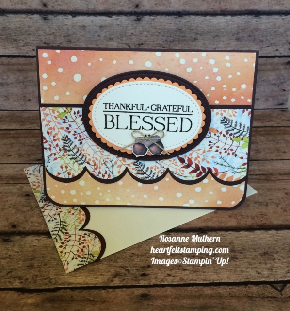 Stampin Up Paisley & Posies Painted Harvest Thank you cards - Rosanne Mulhern