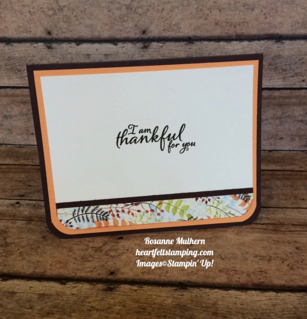 Stampin Up Paisley & Posies Painted Harvest Thank you cards idea - Rosanne Mulhern
