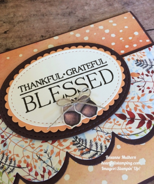 Stampin Up Paisley & Posies Painted Harvest Thank you cards ideas - Rosanne Mulhern