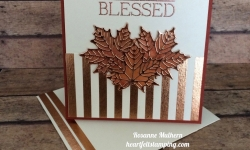 Stampin Up Seasonal Layers and Paisley and Posies Friendship Card - Rosanne Mulhern