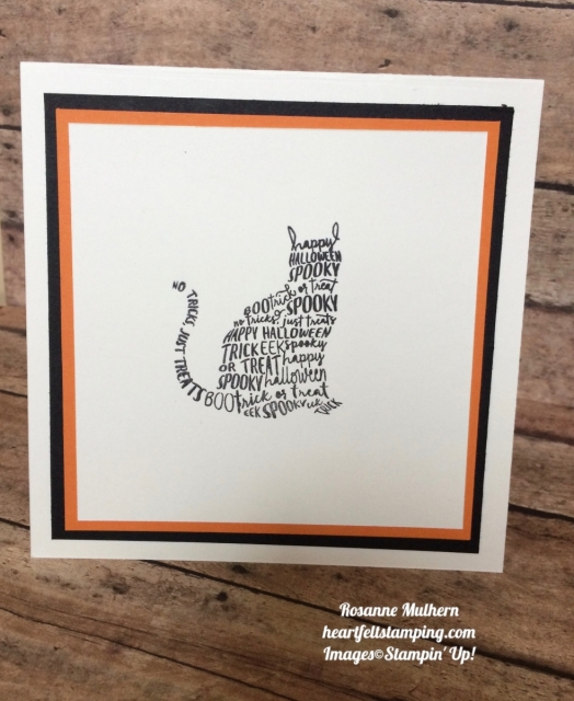 Stampin Up Spooky Cat Halloween Shaker Card Idea- Rosanne Mulhern