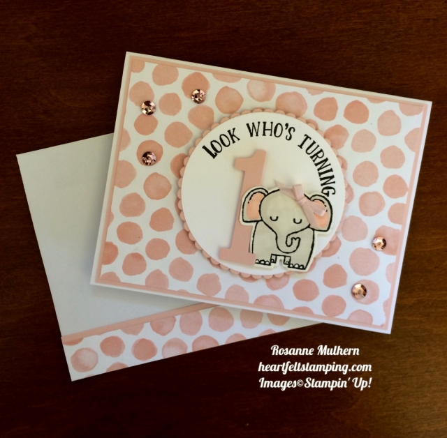 Stampin Up A Little Wild Birthday Card - Rosanne Mulhern