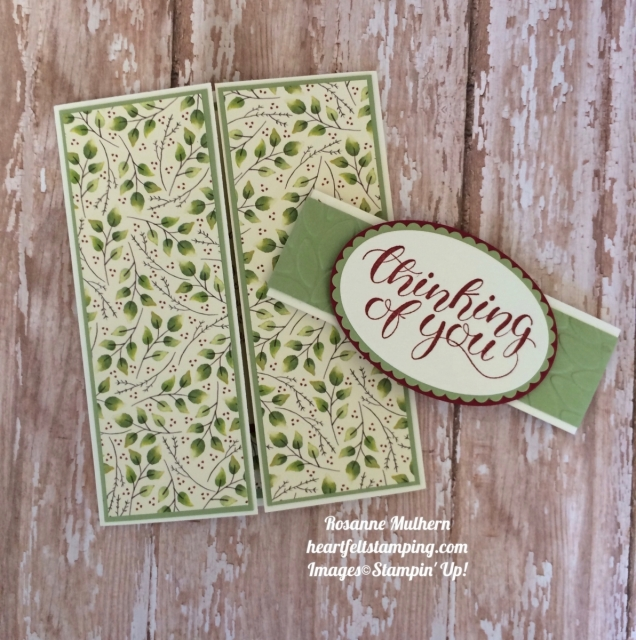 Stampin Up Count My Blessings Gatefold Thinking of You card - Rosanne Mulhern