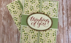 Stampin Up Count My Blessings Gatefold Thinking of You card idea- Rosanne Mulhern