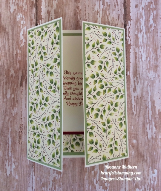 Stampin Up Count My Blessings Gatefold Thinking of You card ideas- Rosanne Mulhern