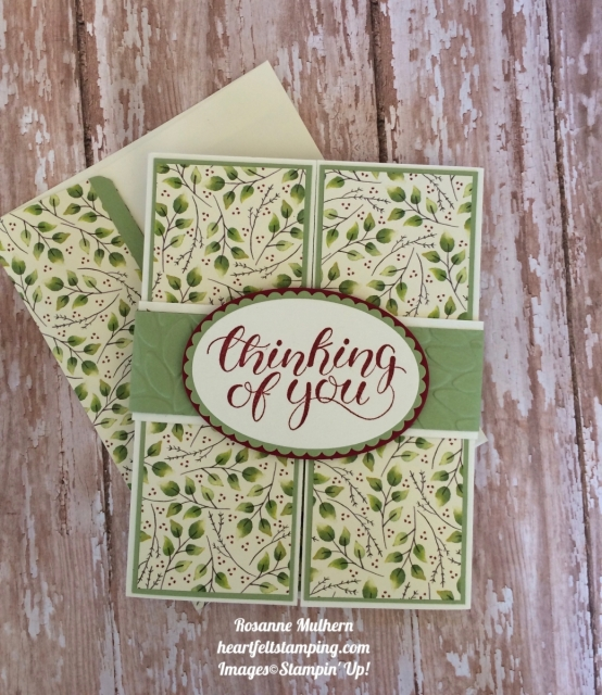 Stampin Up Count My Blessings Gatefold Thinking of You cards- Rosanne Mulhern