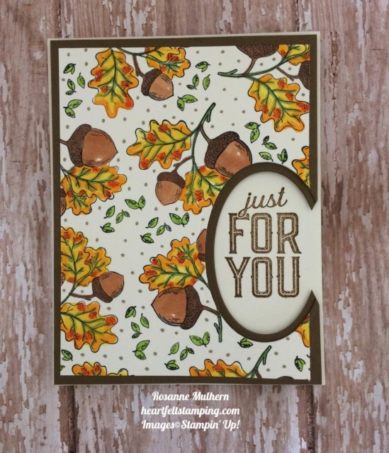 Stampin Up Count My Blessings Thank You card - Rosanne Mulhern