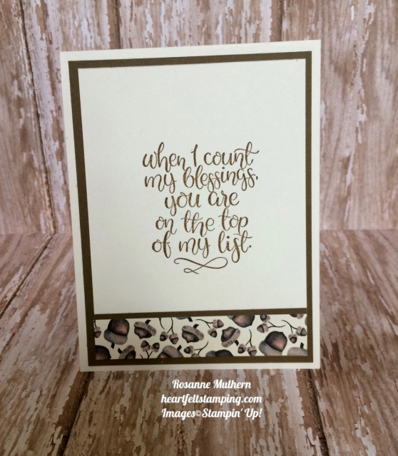 Stampin Up Count My Blessings Thank You card ideas- Rosanne Mulhern