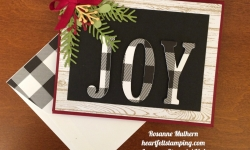 Stampin Up Large Letters Christmas Card - Rosanne Mulhern