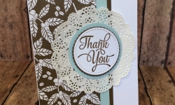 Stampin Up One Big Meaning Thank You card - Rosanne Mulhern