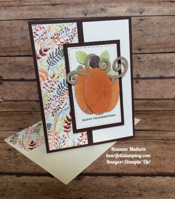 Stampin Up Painted Autumn Wood Textures Thanksgiving Card - Rosanne Mulhern