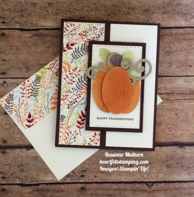 Stampin Up Painted Autumn Wood Textures Thanksgiving Cards - Rosanne Mulhern