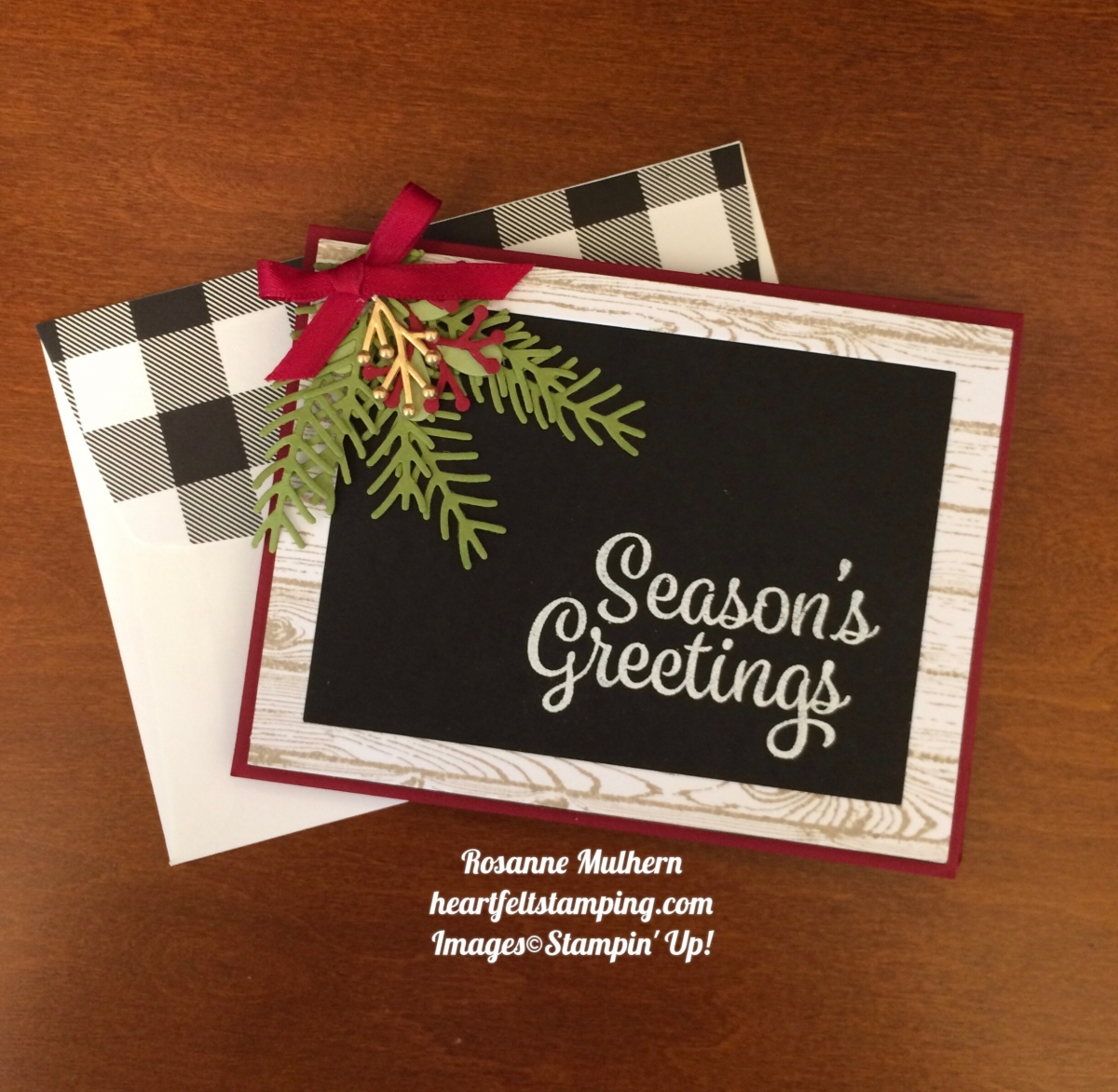 Stampin Up Snowflake Sentiments Christmas Card Rosanne Mulhern