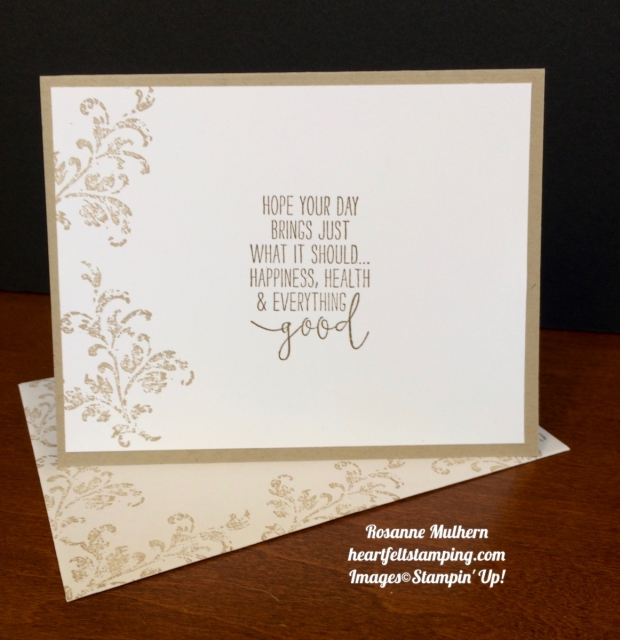 Stampin Up Timeless Textures and Happy Birthday Die Birthday Card Idea - Rosanne Mulhern