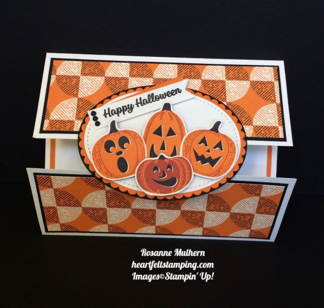 Stampin Up Spooky Night Halloween Card Idea - Rosanne Mulhern