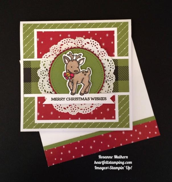 Stampin UP Seasonal Chum Christmas Card - Rosanne Mulhern
