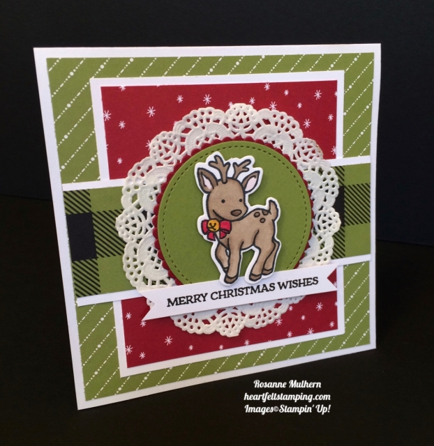 Stampin UP Seasonal Chum Christmas Cards - Rosanne Mulhern