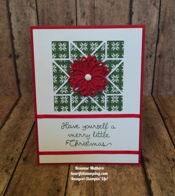 Stampin Up Christmas Quilt Christmas Card Idea - Rosanne Mulhern