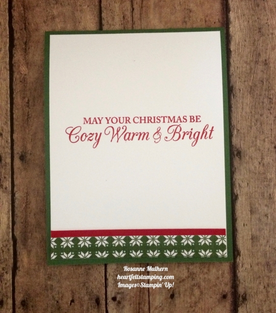 Stampin Up Christmas Quilt Christmas Card Idea- Rosanne Mulhern
