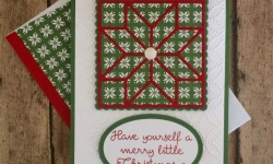 Stampin Up Christmas Quilt Christmas Cards - Rosanne Mulhern