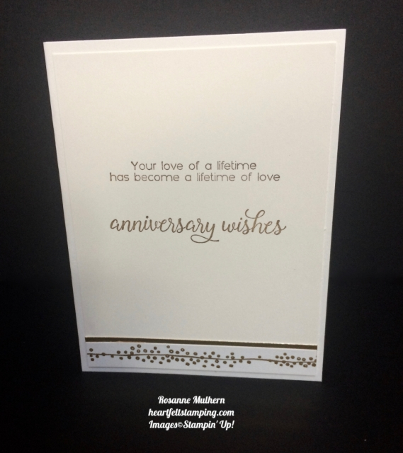 Stampin Up Large Numbers Anniversary Card Ideas - Rosanne Mulhern