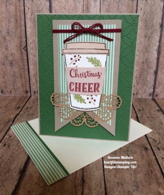 Stampin Up Merry Cafe Christmas Card - Rosanne Mulhern