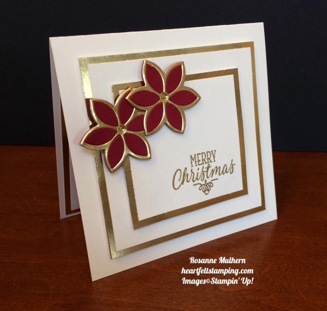 Stampin Up Quilt Builder Christmas Cards - Rosanne Mulhern