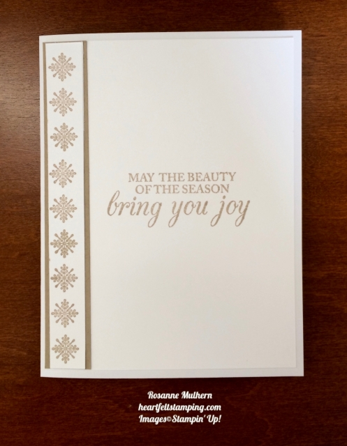 Stampin Up Swirly Snowflakes and Merry Little Labels Christmas Card Idea- Rosanne Mulhern