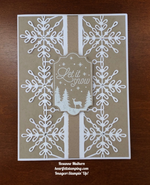 Stampin Up Swirly Snowflakes and Merry Little Labels Christmas Cards - Rosanne Mulhern