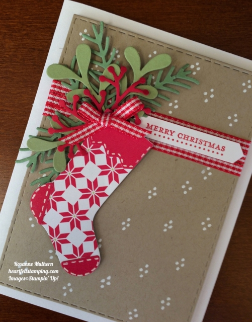 Stampin Up Hang Your Stocking Christmas Card Ideas- Rosanne Mulhern