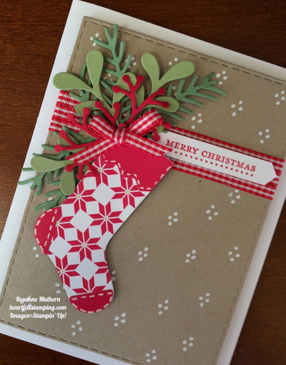 Stampin Up Hang Your Stocking Christmas Card Ideas- Rosanne Mulhern ...