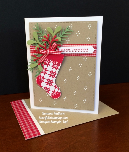 Stampin Up Hang Your Stocking Christmas Cards - Rosanne Mulhern