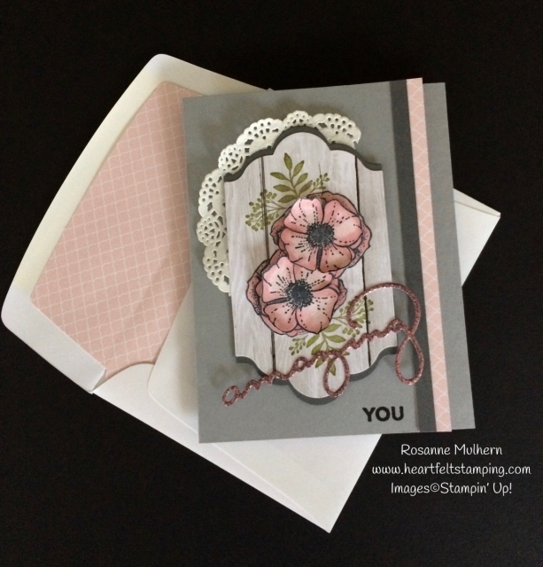 Stampin Up Amazing You Friendship and Thank You Card - Rosanne Mulhern