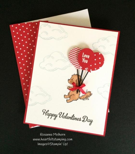 Stampin Up Bella and Friends Valentine Card - Rosanne Mulhern