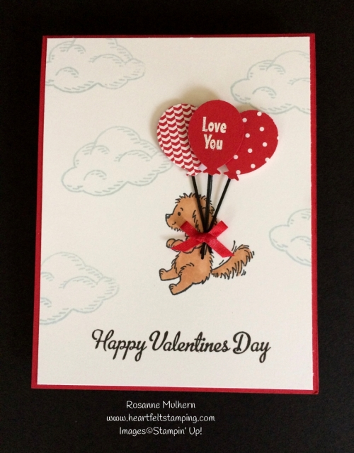 Stampin Up Bella and Friends Valentine Cards - Rosanne Mulhern