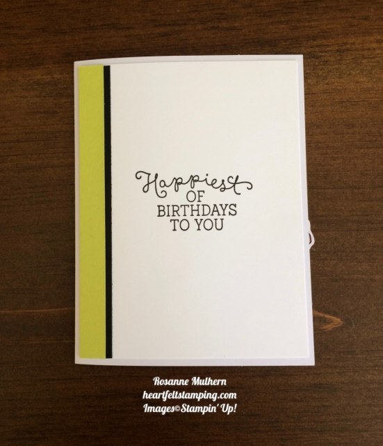 Stampin Up Lots of Happy Card Kit Birthday Card Ideas- Rosanne Mulhern