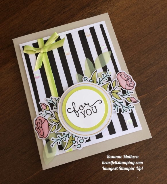 Stampin Up Lots of Happy Card Kit Birthday Card - Rosanne Mulhern