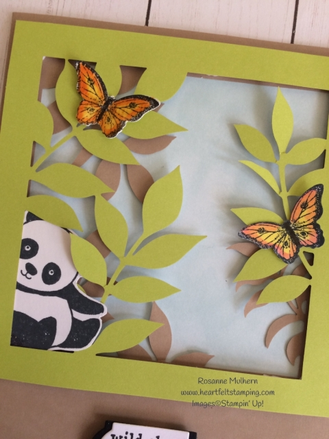 Stampin Up Paper Pumpkin Alternate Card Project with Party Panda - Rosanne Mulhern