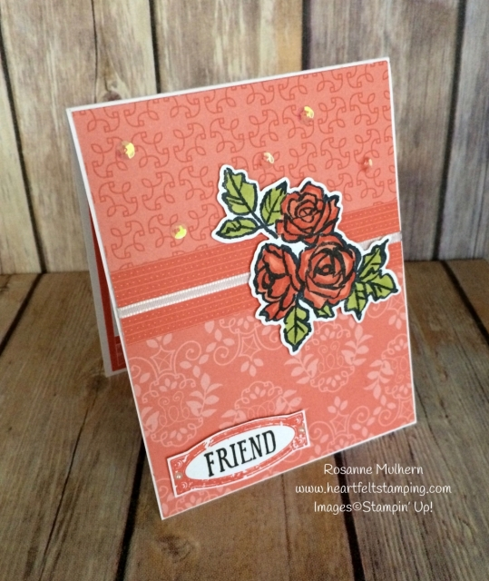 Stampin Up Petal Palette Friendship Card Idea - Rosanne Mulhern