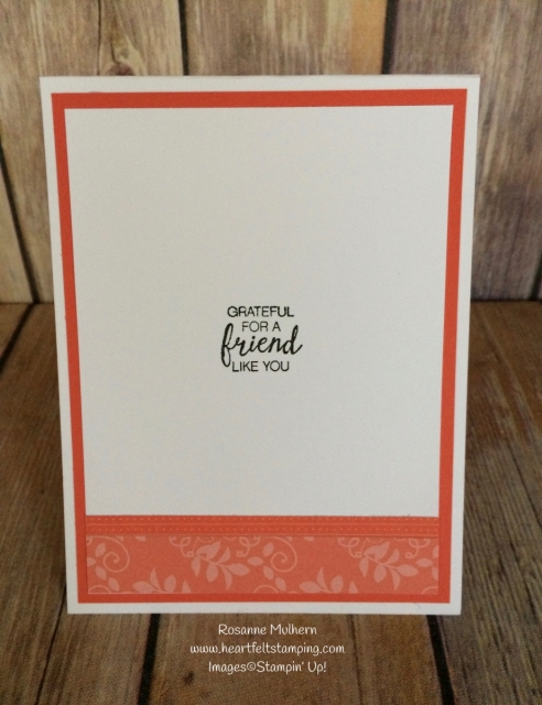 Stampin Up Petal Palette Friendship Card Ideas - Rosanne Mulhern